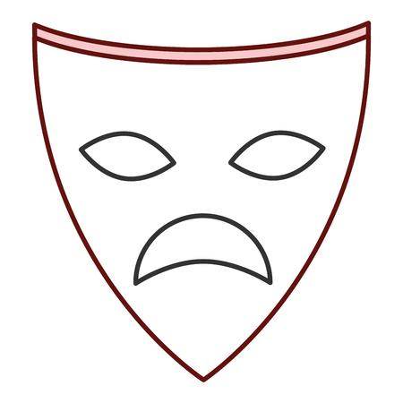 theater mask isolated icon vector illustration design Stok Fotoğraf - 87292646
