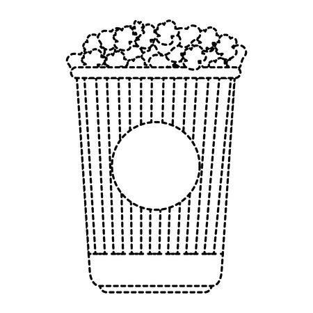 delicious pop corn isolated icon vector illustration design