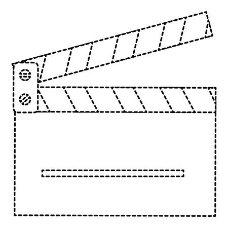カチンコ シネマ分離アイコン ベクトル イラスト デザイン