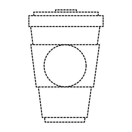 컵 음료수 격리 된 아이콘 벡터 일러스트 디자인