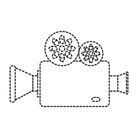 シネマビデオカメラアイコンベクトルイラストデザイン
