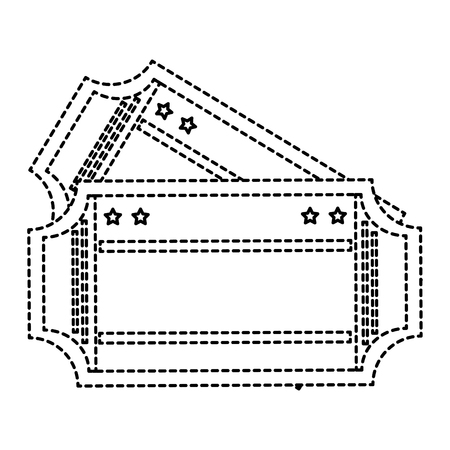cinema ticket isolated icon vector illustration design