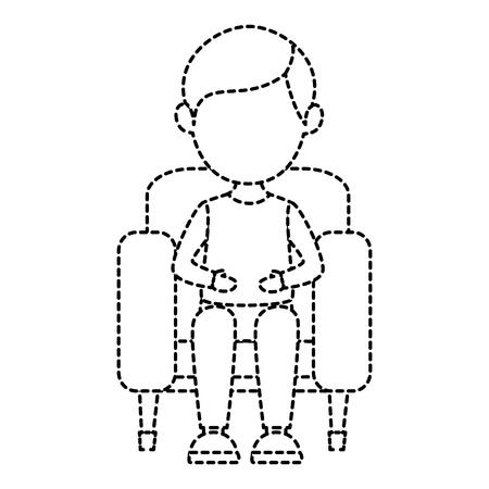 映画館の椅子ベクトル イラスト デザインの男  イラスト・ベクター素材