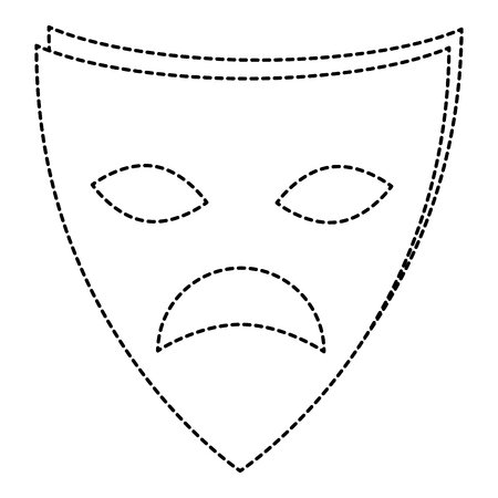 theater mask isolated icon vector illustration design Stok Fotoğraf - 87292685