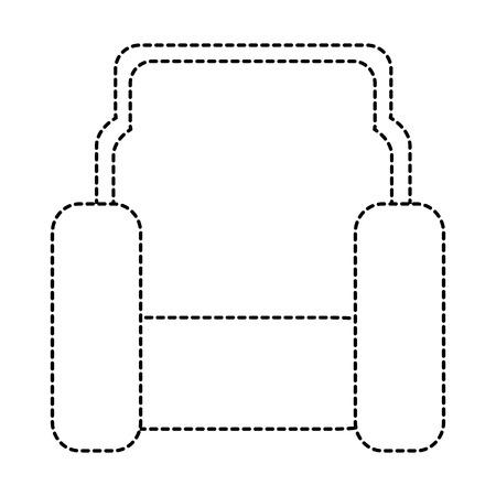 시네마 의자 아이콘 벡터 일러스트 디자인 절연