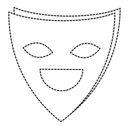 Máscara de teatro aislado icono de ilustración vectorial de diseño Foto de archivo - 87292705