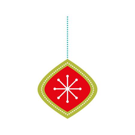 クリスマスボール吊り装飾オーナメントベクターイラスト  イラスト・ベクター素材