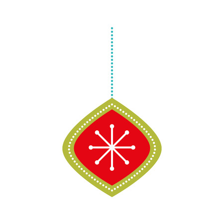 christmas ball hanging decoration ornament vector illustration