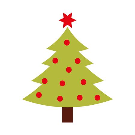 christmas tree pine decoration celebration party vector illustration