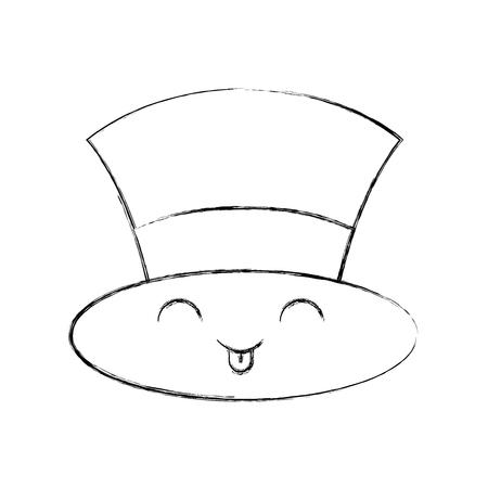 Kawaii Kerstmuts hoed van sneeuwpop accessoire vector illustratie Stock Illustratie
