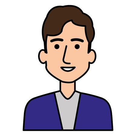 젊은 남자 아바타 캐릭터 벡터 일러스트 디자인 스톡 콘텐츠 - 87292811