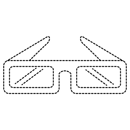 3d glasses cinema icon vector illustration design