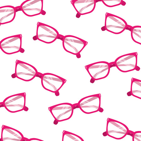 fashion glasses accessory trendy seamless pattern image vector illustration Illustration