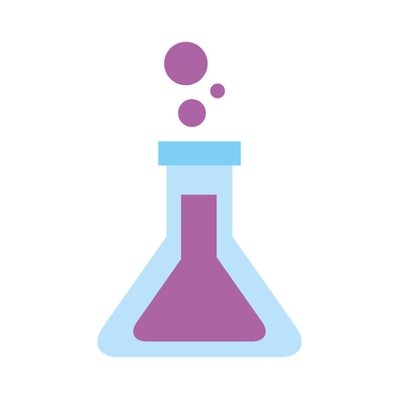 school test tube laboratory chemistry equipment vector illustration Vettoriali