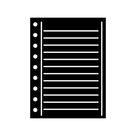 紙メモ ページ空白学校ベクトル図が並ぶ  イラスト・ベクター素材