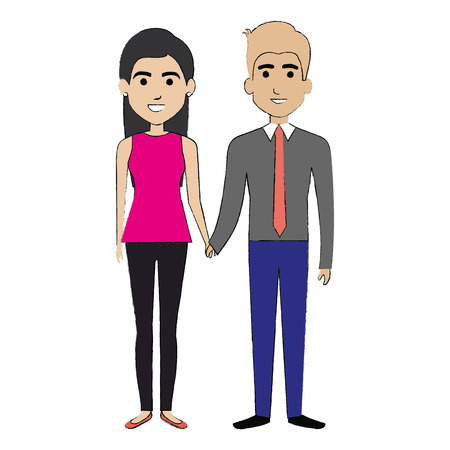 family isolated: lovers couple avatars character vector illustration design