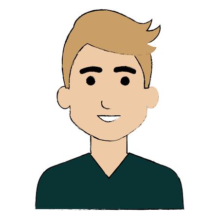 젊은 남자 아바타 캐릭터 벡터 일러스트 디자인 스톡 콘텐츠 - 87293284