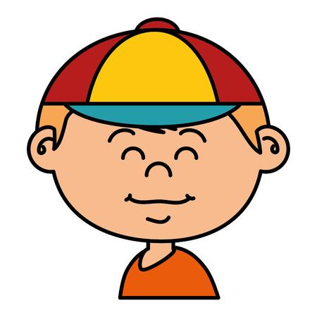 小さな男の子アバターの文字ベクトル イラスト デザイン