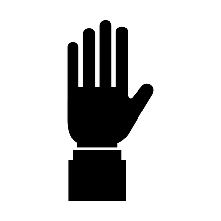 business hand man showing five fingers vector illustration Stock Vector - 87293519