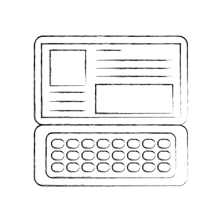 laptop keyboard website application connection vector illustration Иллюстрация