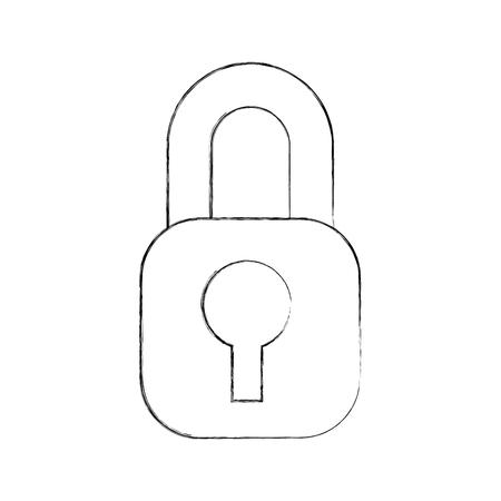 セキュリティインターネットアクセス情報保護ベクトルイラスト  イラスト・ベクター素材
