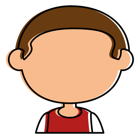 little boy avatar character vector illustration design