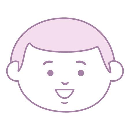 little boy head avatar character vector illustration design Illustration