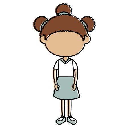 Schönes kleines Mädchen Charakter Vektor Illustration design Standard-Bild - 87293667