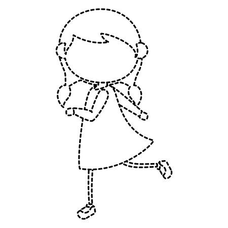 mooi vector de illustratieontwerp van het meisjekarakter