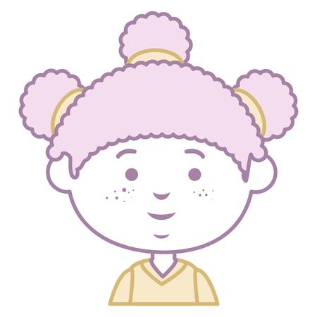 beautiful little girl character vector illustration design Illustration