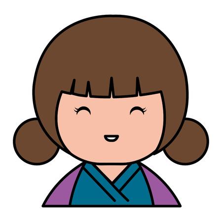 Kleine Japanse pop kawaii karakter vector illustratie ontwerp Stockfoto - 87293812