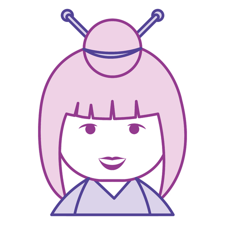 matryoshka: little japanese doll kawaii character vector illustration design