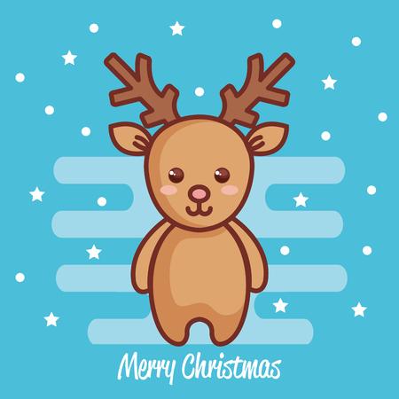 reindeer christmas character icon vector illustration design Illustration