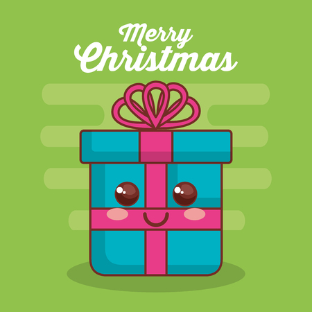 merry christmas gift character vector illustration design Фото со стока