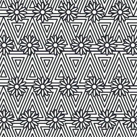 geometric figures pattern background vector illustration design