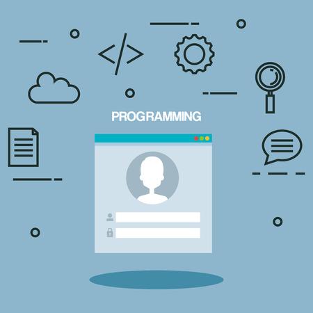 css: programming languages set icons vector illustration design