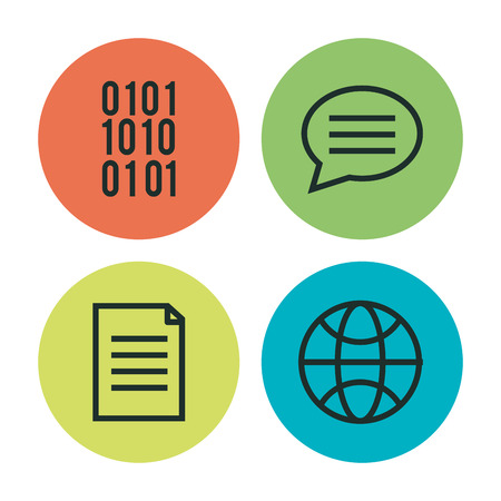 programming languages set icons vector illustration design