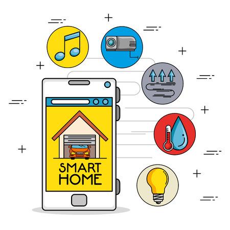 smart home control concept vector illustration graphic design