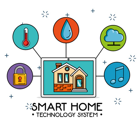 smart home control concept vector illustration graphic design Banco de Imagens - 87385957