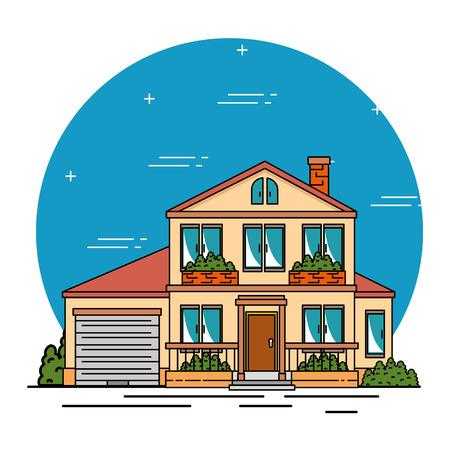 smart home tecnology system vector illustration graphic design Ilustração