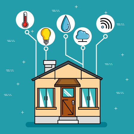 smart home control concept vector illustration graphic design