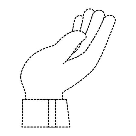 受信側の人間のアイコン ベクトル イラスト デザインを手します。  イラスト・ベクター素材
