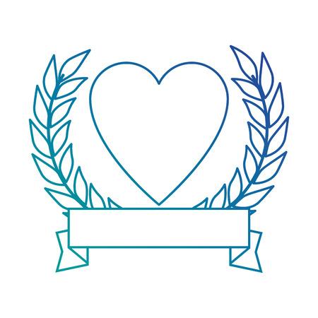 Corazón con diseño de ilustración de vector de icono de cinta Foto de archivo - 87386002