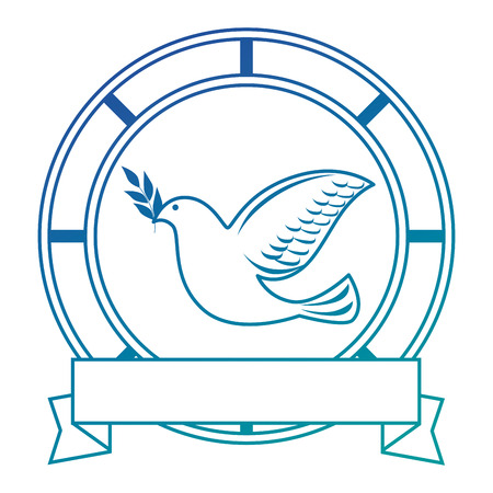 bird of peace emblem vector illustration design Stok Fotoğraf - 87386004