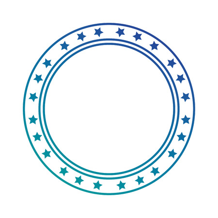 circle seal with stars vector illustration design