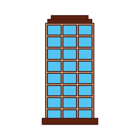 city building structure business or residence property vector illustration
