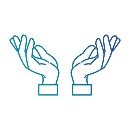 mani illustrazione vettoriale di icone di protezione umana