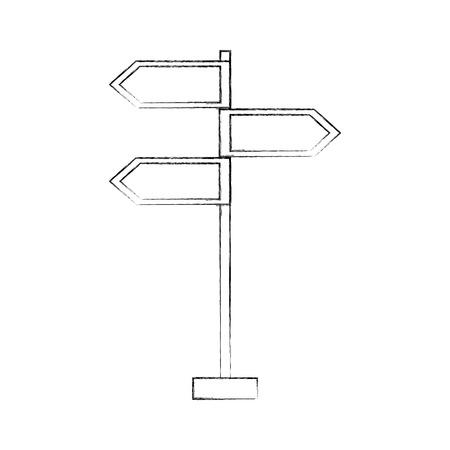 traffic signal arrows guide direction icon vector illustration Banco de Imagens - 87386038