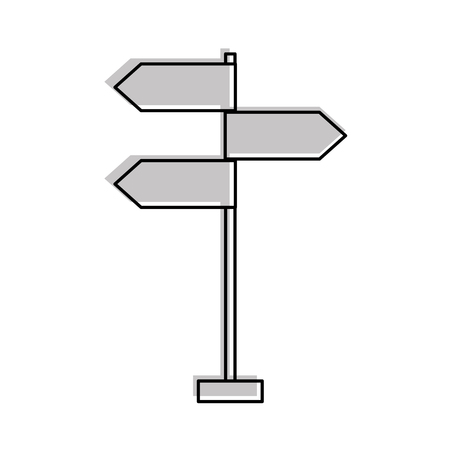 traffic signal arrows guide direction icon vector illustration Çizim