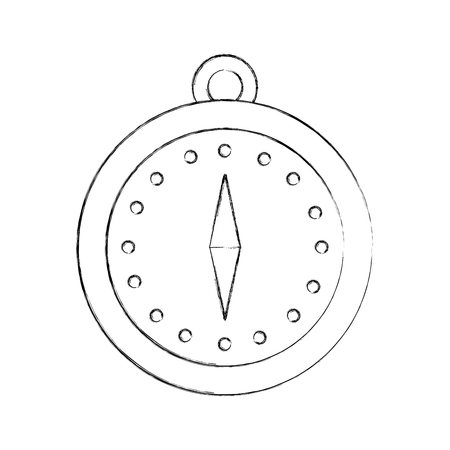 magnetic compass navigation orienteering and location point vector illustration Ilustrace
